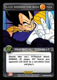 dragonball z base set black disorienting blow