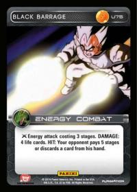 dragonball z base set black barrage