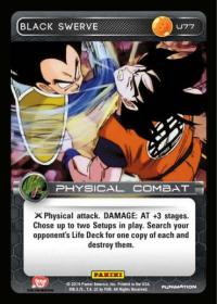 dragonball z base set black swerve
