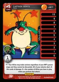 dragonball z base set captain ginyu frog