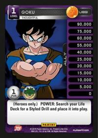 dragonball z heroes and villains goku thoughtful