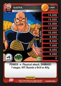 dragonball z heroes and villains nappa overconfident foil