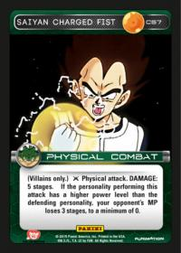 dragonball z heroes and villains saiyan charged fist