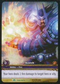 warcraft tcg extended art scorch ea