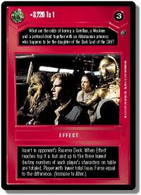 star wars ccg dagobah revised 3 720 to 1 wb