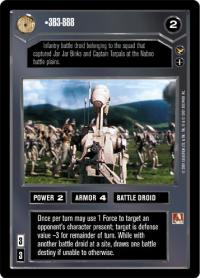 star wars ccg theed palace 3b3 888