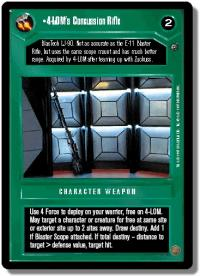 star wars ccg dagobah revised 4 lom s concussion rifle wb