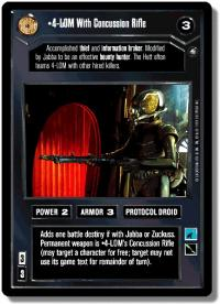 star wars ccg enhanced 4 lom with concussion rifle