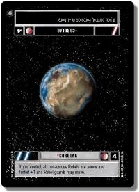 star wars ccg anthologies sealed deck premium corulag light
