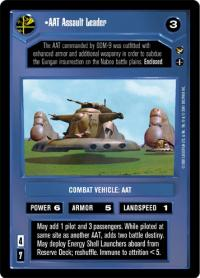 star wars ccg theed palace aat assault leader
