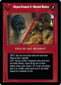 star wars ccg reflections ii premium abyssin ornament wounded wookie