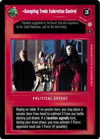 star wars ccg coruscant accepting trade federation control