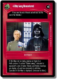 star wars ccg special edition a day long remembered