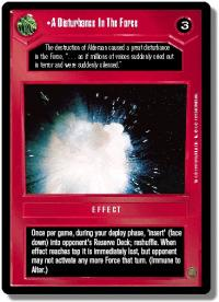 star wars ccg premiere limited a disturbance in the force