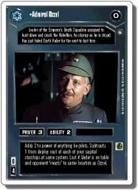 star wars ccg hoth revised admiral ozzel wb