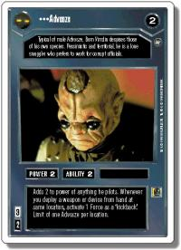 star wars ccg a new hope revised advosze wb