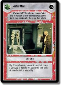 star wars ccg premiere limited affect mind