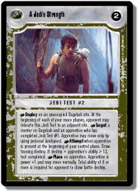 star wars ccg dagobah revised a jedi s strength wb