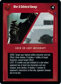 star wars ccg reflections ii premium alter collateral damage