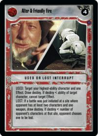 star wars ccg reflections ii premium alter friendly fire