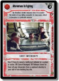 star wars ccg a new hope limited alternatives to fighting