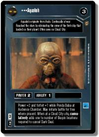 star wars ccg jabbas palace aqualish