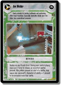 star wars ccg jabbas palace arc welder
