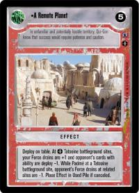star wars ccg reflections iii premium a remote planet
