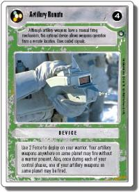 star wars ccg hoth revised artillery remote wb