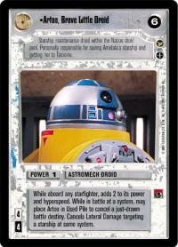 star wars ccg theed palace artoo brave little driod