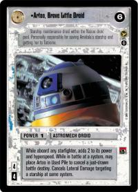 star wars ccg theed palace artoo brave little driod ai