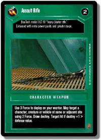 star wars ccg premiere limited assault rifle