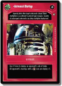 star wars ccg a new hope limited astromech shortage