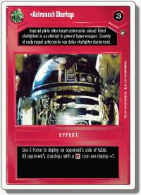 star wars ccg a new hope revised astromech shortage wb