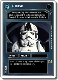 star wars ccg hoth revised at at driver wb