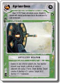 star wars ccg hoth revised atgar laser cannon wb