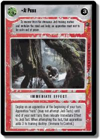 star wars ccg dagobah revised at peace wb