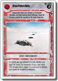star wars ccg hoth revised attack pattern delta wb