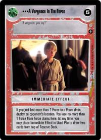 star wars ccg coruscant a vergence in the force