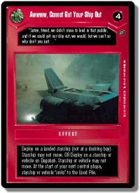 star wars ccg dagobah revised awwww cannot get you ship out wb