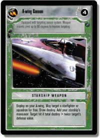 star wars ccg death star ii a wing cannon