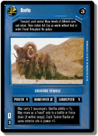 star wars ccg premiere limited bantha