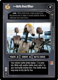 star wars ccg theed palace battle driod officer