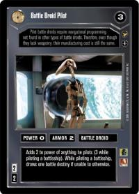 star wars ccg theed palace battle driod pilot