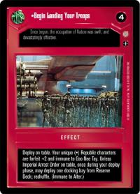 star wars ccg coruscant begin landing your troops