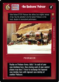 star wars ccg tatooine ben quadinaro s podracer