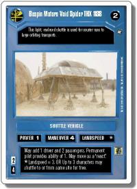 star wars ccg a new hope revised bespin motors void spider thx 1138 wb