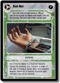 star wars ccg cloud city bionic hand