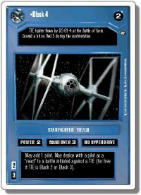 star wars ccg a new hope revised black 4 wb