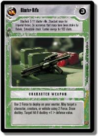 star wars ccg premiere limited blaster rifle light